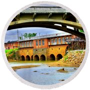 Columbia Canal At Gervais Street Bridge Round Beach Towel