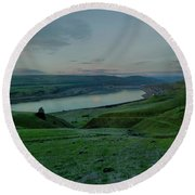 Round Beach Towel featuring the photograph Columbia Gorge In Early Spring by Jeff Swan