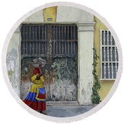 Colombia Round Beach Towel