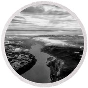 Columbia River Gorge Round Beach Towel