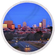 Columbia, Sc, Usa Round Beach Towel by Skip Willits