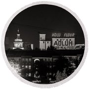 Columbia Skyline Round Beach Towel