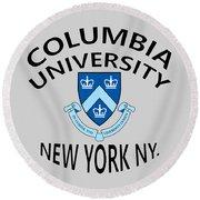 Columbia University New York Round Beach Towel