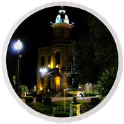 Columbiana Cty Courthouse Round Beach Towel