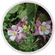 Columbine Round Beach Towel by Catherine Gagne