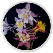 Columbine Medley Round Beach Towel