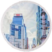 Columbus Circle Round Beach Towel