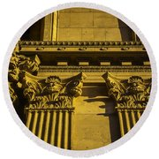 Columns Of The Palace Of Fine Arts Round Beach Towel