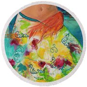 Combustible Round Beach Towel