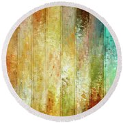 Come A Little Closer - Abstract Art Round Beach Towel