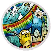 Come Along With Me Round Beach Towel