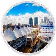 Come Cruise With Me Round Beach Towel