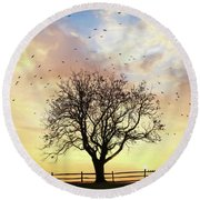 Round Beach Towel featuring the photograph Come Fly Away by Lori Deiter