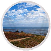 Round Beach Towel featuring the photograph Come Sit With Me by Joyce Dickens