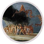 Come Unto These Yellow Sands Round Beach Towel by Richard Dadd