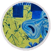 Comedy Or Tragedy Round Beach Towel