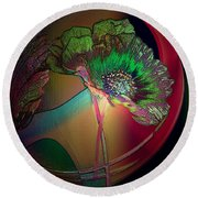 Comely Cosmos Round Beach Towel by Irma BACKELANT GALLERIES