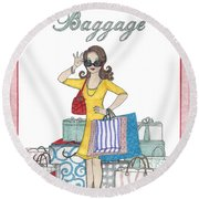 Comes With Baggage Round Beach Towel