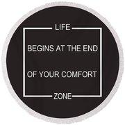 Comfort Zone Round Beach Towel
