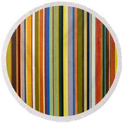Comfortable Stripes Round Beach Towel