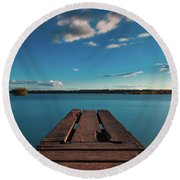 Round Beach Towel featuring the photograph Comfortably Numb by Davor Zerjav