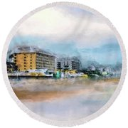 Round Beach Towel featuring the photograph Comin' Back To Me by Jim Hill