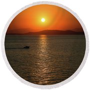 Coming Into The Light Round Beach Towel