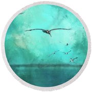 Coming Into View Round Beach Towel