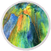 Coming Lord Round Beach Towel