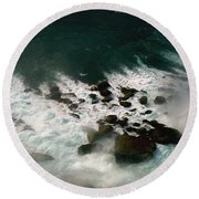Round Beach Towel featuring the photograph Coming Out by Harsh Malik