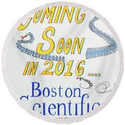Coming Soon Round Beach Towel