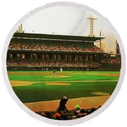 Comiskey Park  Round Beach Towel