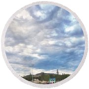 Round Beach Towel featuring the photograph Commencement by Sean Griffin