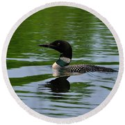 Common Loon Round Beach Towel