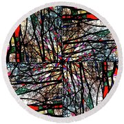 Communal Branches Round Beach Towel