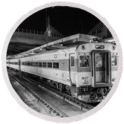 Commuter Rail Round Beach Towel