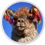 Como Se Llama Round Beach Towel by Skip Hunt