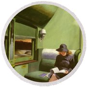 Compartment C Round Beach Towel by Edward Hopper