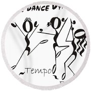 Con-tempo-rary Round Beach Towel by Maria Watt