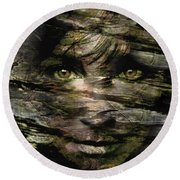 Concealed Emotions Round Beach Towel by Tlynn Brentnall