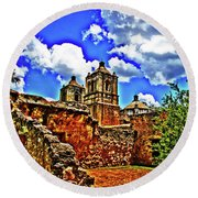 Concepcion Towers And Ruined Wall Round Beach Towel