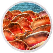 Conch Parade Round Beach Towel