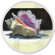 Conch Shell Round Beach Towel by Susan Thomas