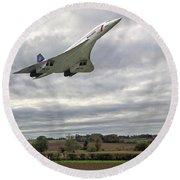 Concorde - High Speed Pass_2 Round Beach Towel