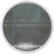 Concrete 2- Contemporary Abstract Art By Linda Woods Round Beach Towel