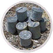 Concrete Rolls Round Beach Towel
