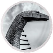 Concrete Serpent Round Beach Towel