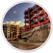 Condos Round Beach Towel