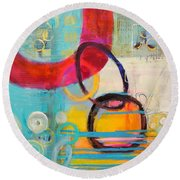 Conections Round Beach Towel