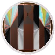 Cones Of Light Round Beach Towel